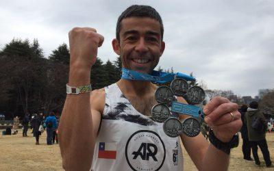 """Gonzalo Zapata finalizo el circuito World Marathon Majors y comienzo desafío """"The Big Six"""" en Tokio"""