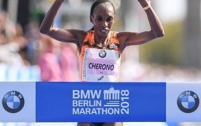 Cherono gana el Maratón de Berlín con récord de la prueba alemana