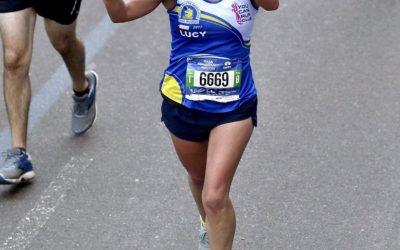 """Lucy Levio – Nueva York 2018 """"Levanté los brazos pero al cruzar continúe caminando, tocando y moviendo mis piernas para asegurar que no hubiera otra lesión ¡Todo en su lugar, lo logre!"""