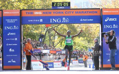 Geoffrey Mutai mantiene el récord del maratón de Nueva York desde 2011