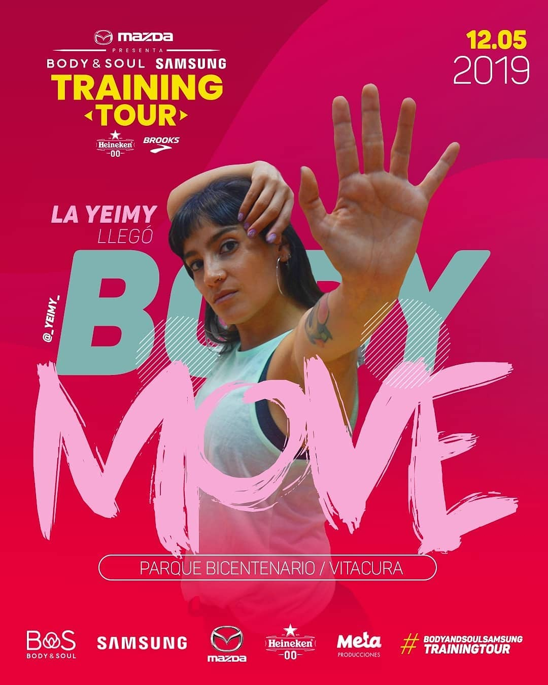 Falta poco para la segunda fecha del Body & Soul Samsung Training Tour, Body Move