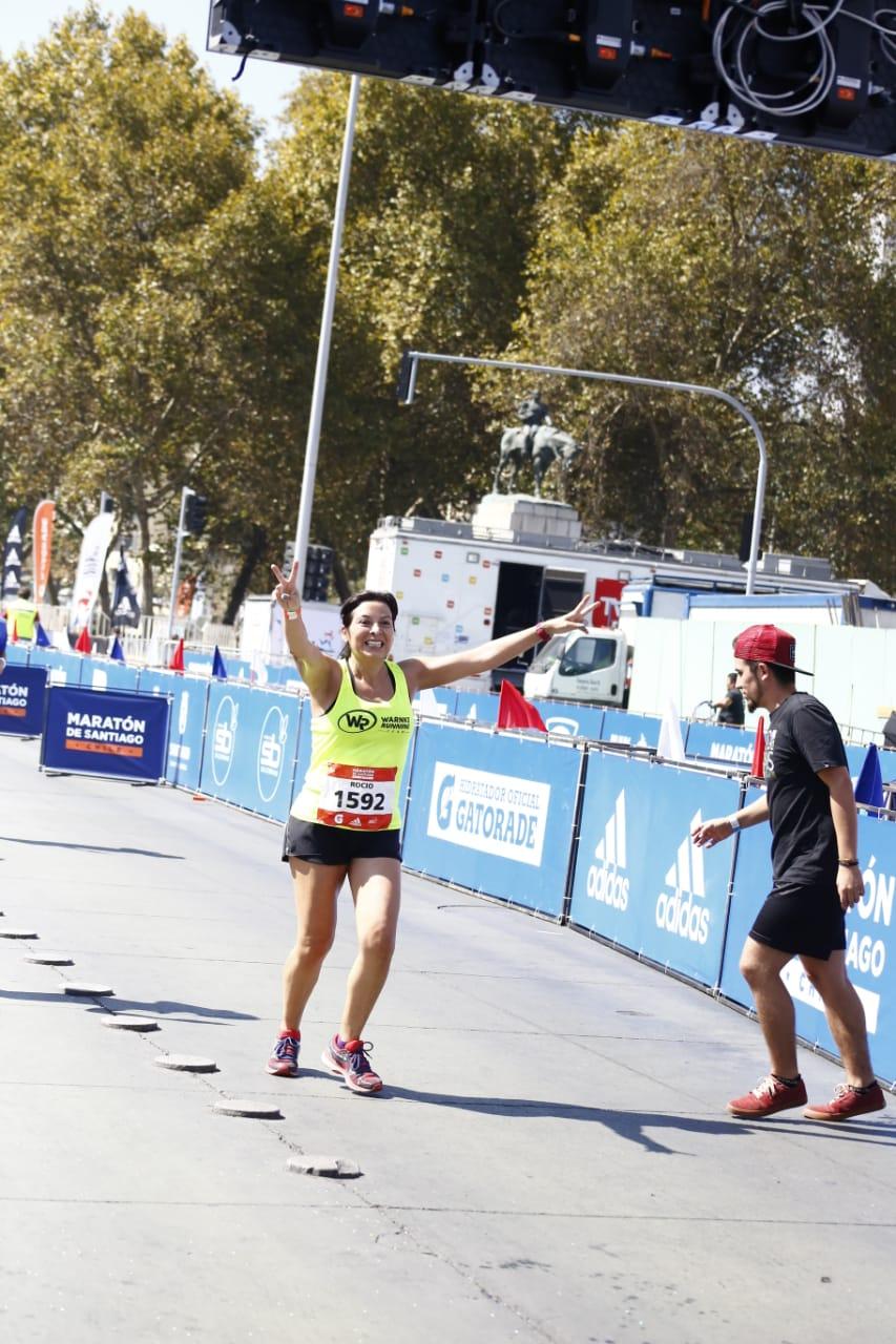 """Rocío Núnez """"Mi primer Maratón de Santiago fue una experiencia maravillosa"""""""