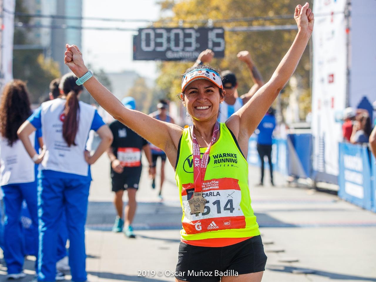 """Carla Saez: """"Pensaba bajar las 3 horas y lo logré mucho antes de lo imaginado""""."""