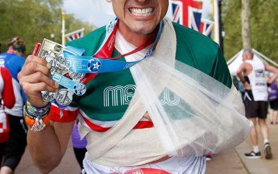 Mexicano finalizó Maratón de Londres con la clavícula rota