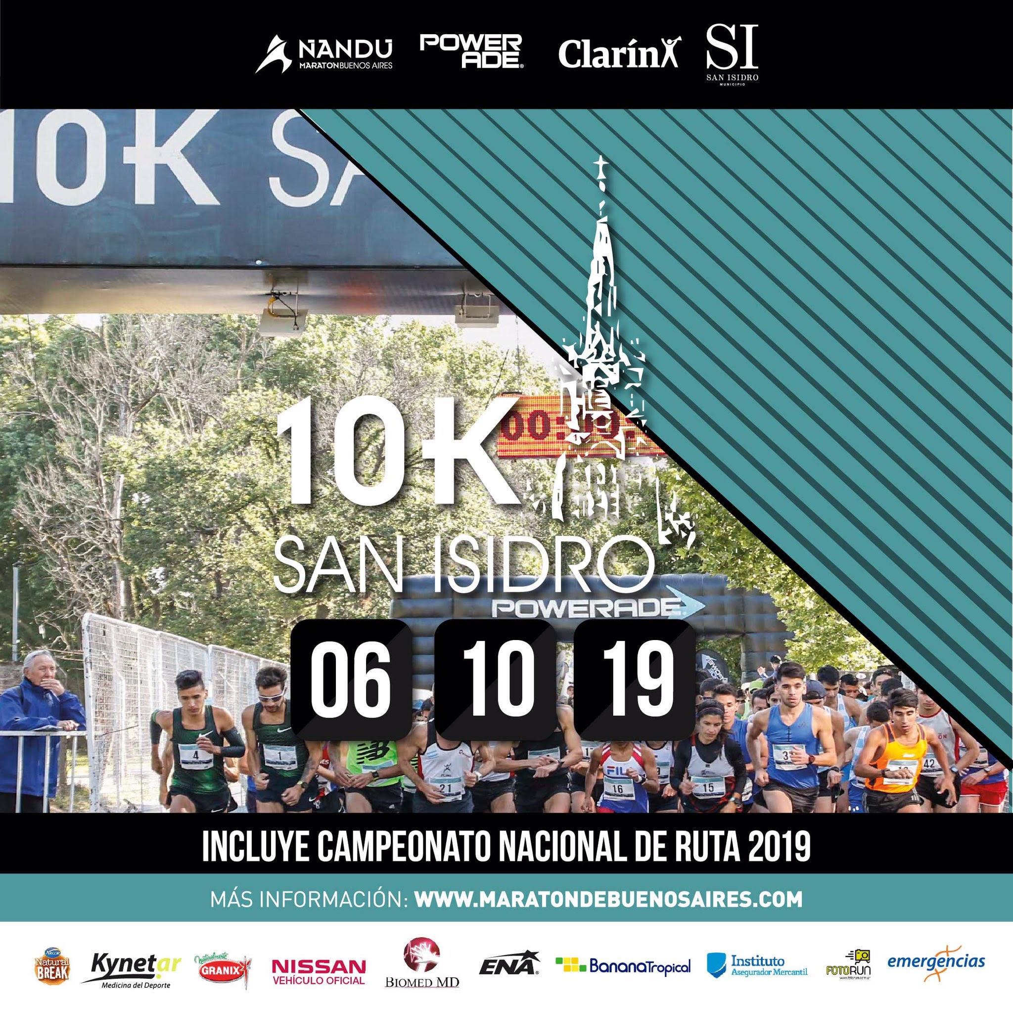 Los 10K de San Isidro 2019, completan el circuito de carreras en Buenos Aires