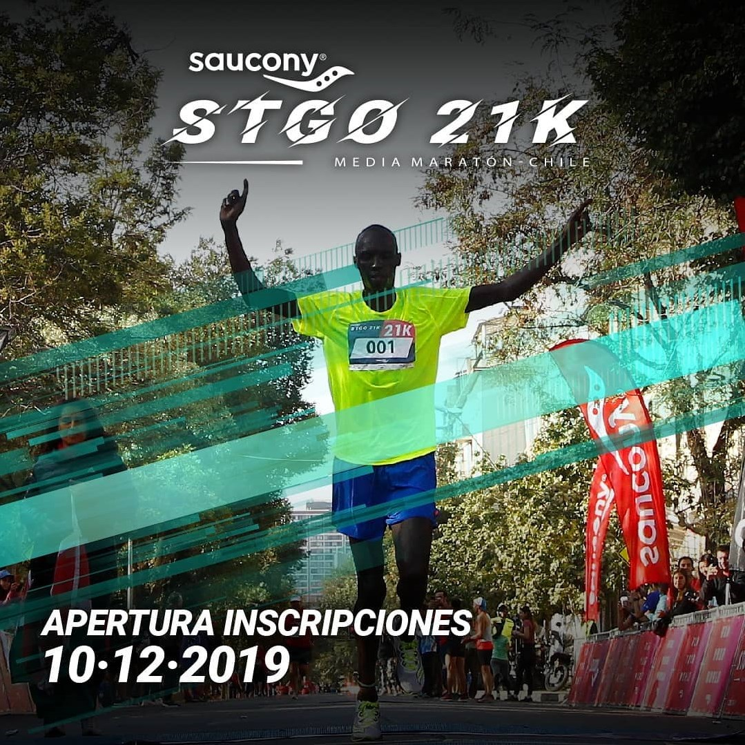 CARRERA SAUCONY STGO 21K ABRE INSCRIPCIONES PARA SU VERSION 2020