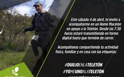 DULIO DE LAPEYRA, EL ULTRAMARATONOSTA QUE CORRERA 42 KILOMETROS EN CASA POR LA TELETON