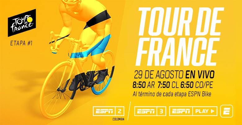 EL TOUR DE FRANCIA EN VIVO POR ESPN3 & ESPN PLAY